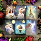 queenofthemoonoracle,orakelkort,tarot,mooncards,oraclecards,moderjord-nu